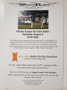 Fill the Tractor for Twin Oaks Shelter! @ Whiskey Ranch -- Delavan